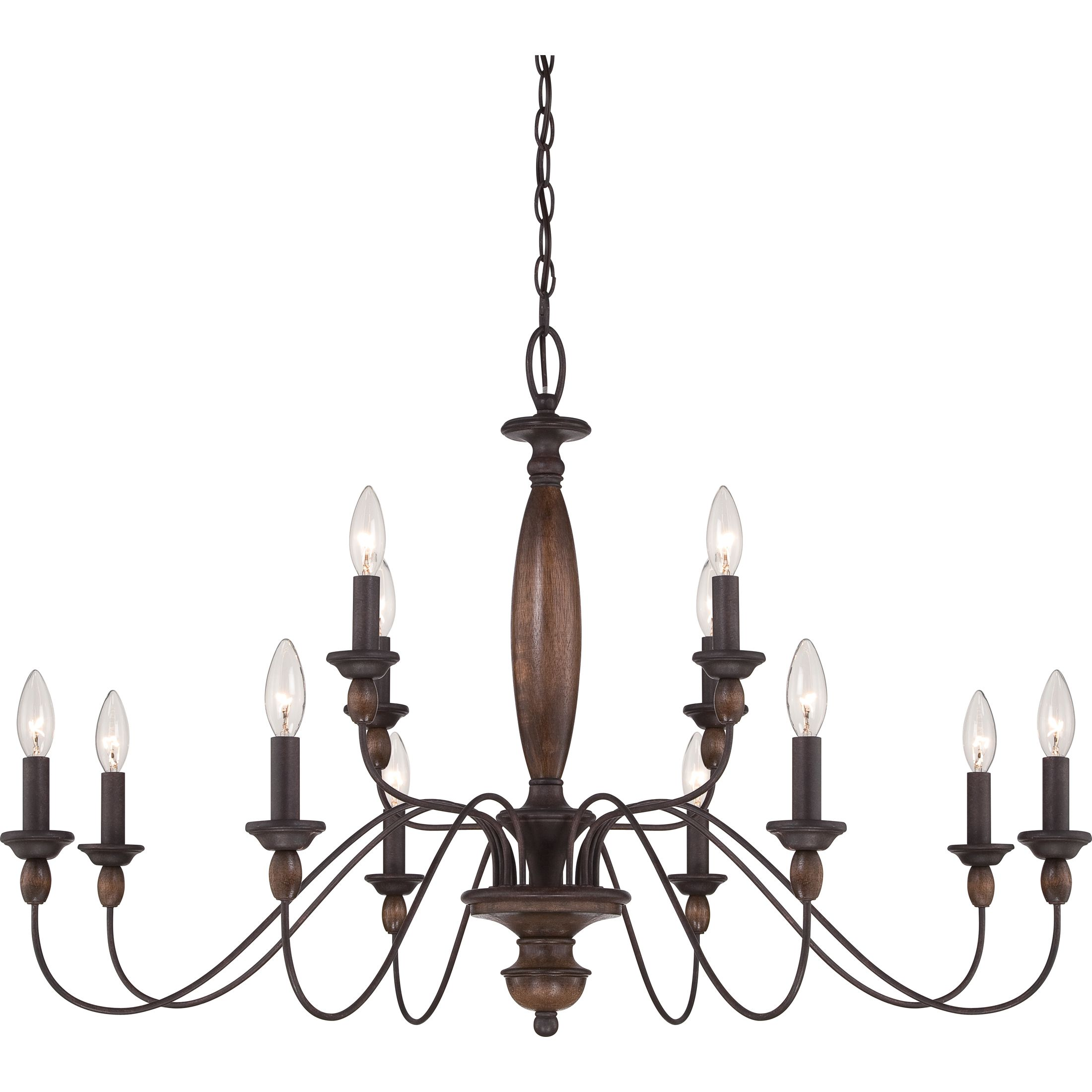 The Holbrook chandelier features traditional American style at its