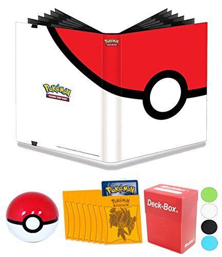 Pokemon Pokeball 9 Pocket Full-View PRO Binder Album + 65