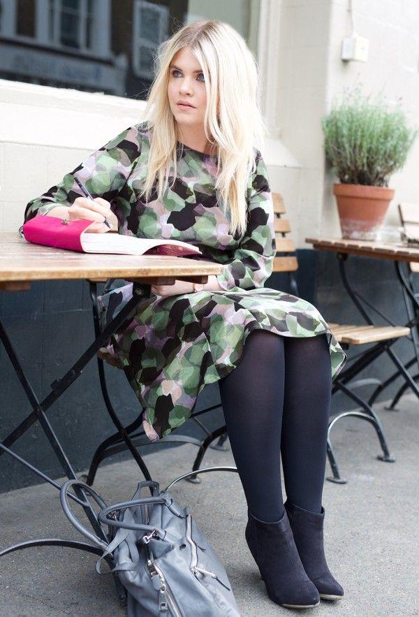 1481ef8079 Camouflage Crepe Godet Dress by Anna Scholz plus size