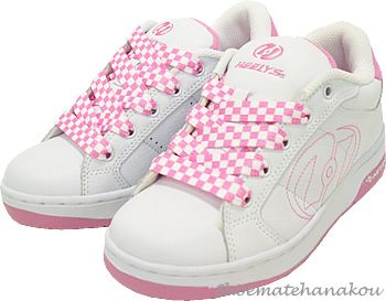 Image result for white pink heelys