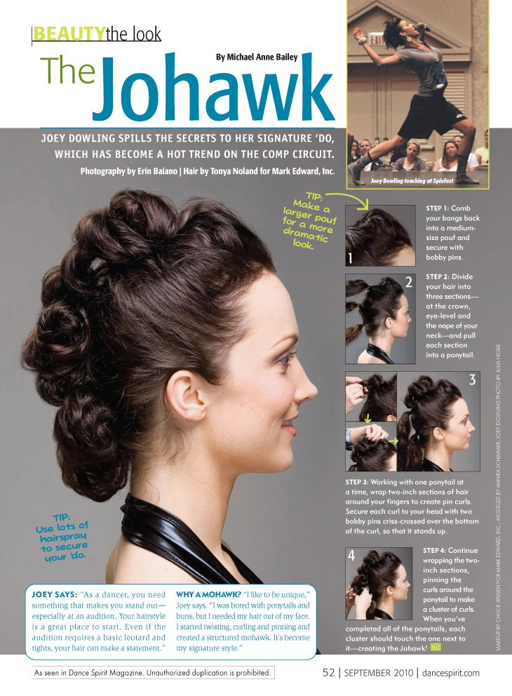 The Johawk Sept 2010 Dance Hairstyles Competition Hair Dance Competition Hair