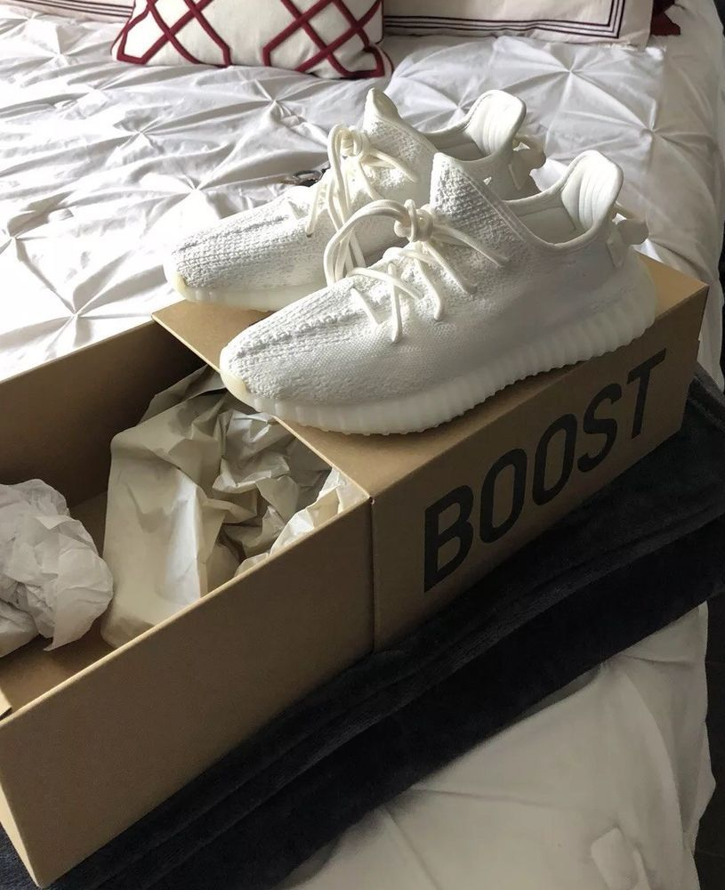 be8ae67b7db6f eBay  Sponsored ADIDAS Yeezy Boost 350 V2 TRIPLE WHITE 100% AUTHENTIC Mens  Size 8 NEW