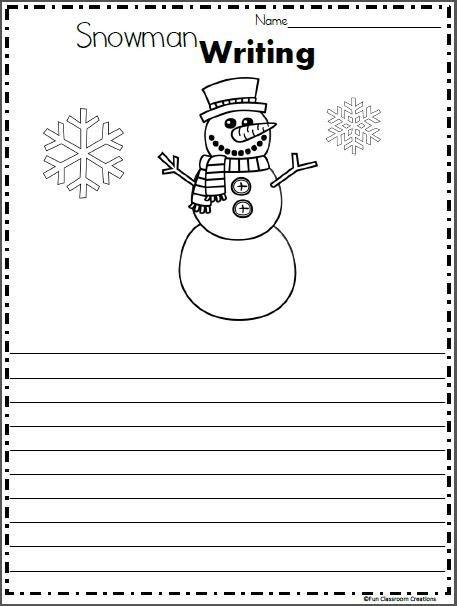 Free Snowman Writing Templates   Writing activities ...