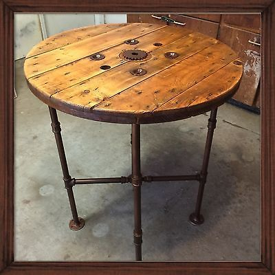 Superb Reclaimed Cable Spool Pub Table