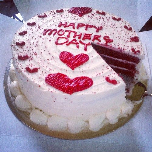 Red Velvet Mother S Day Cake Mothers Day Cake Holiday Cakes