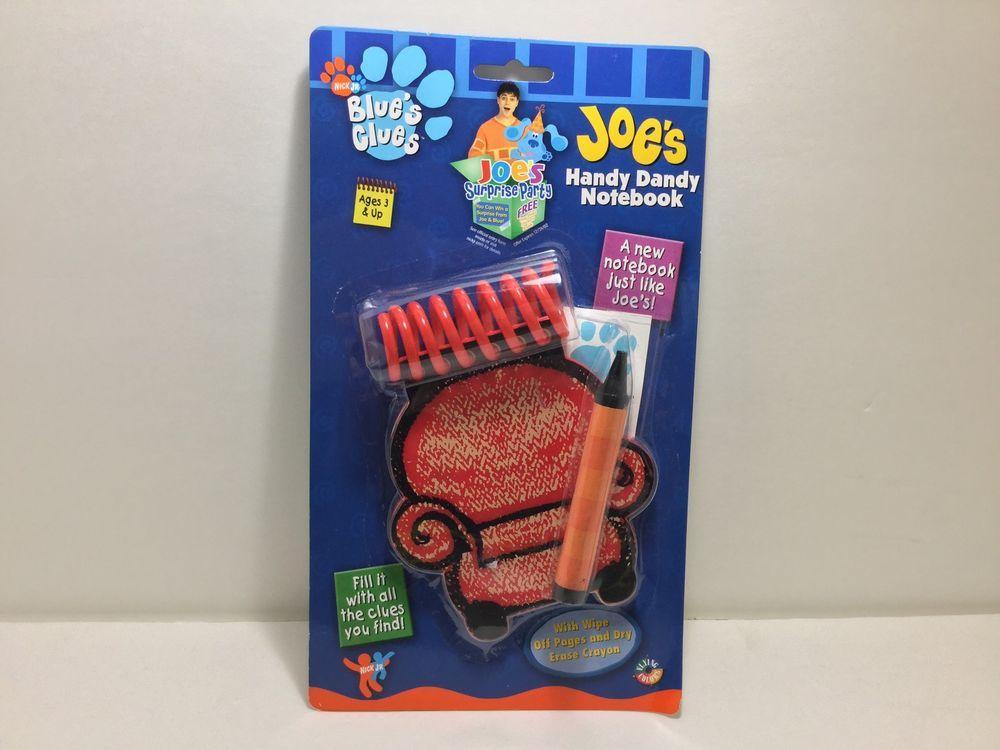 Blue S Clues Joe S Handy Dandy Notebook Nick Jr Blues Clues Joe Handy Dandy Blues Clues