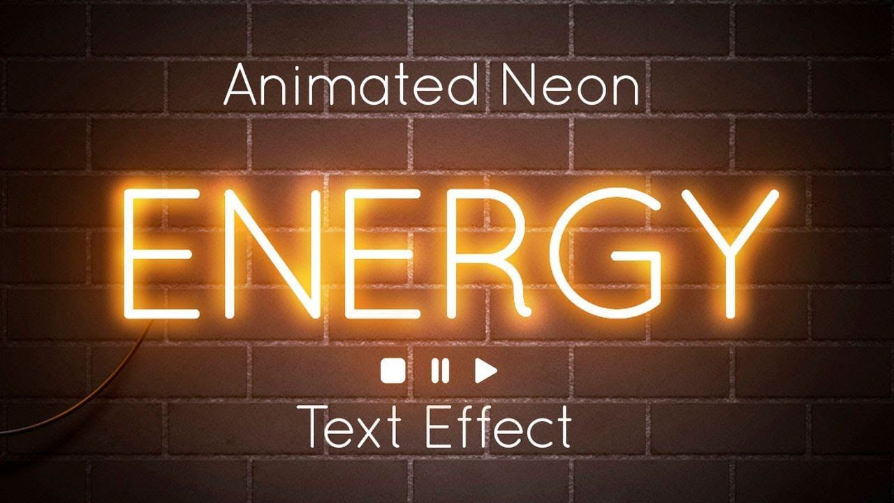How To Create an Animated Neon Text Effect in Adobe