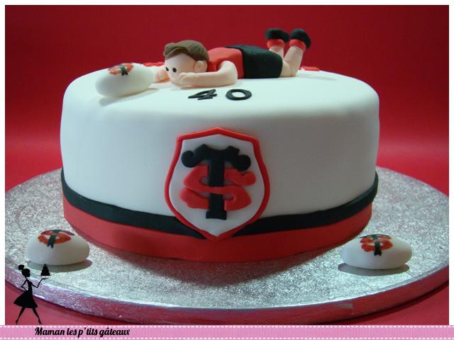 gâteau stade toulousain anniversaire 40 ans   gâteaux édition