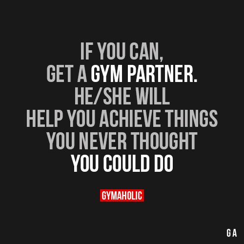 If You Can Get A Gym Partner With Images Gym Partner Fitness