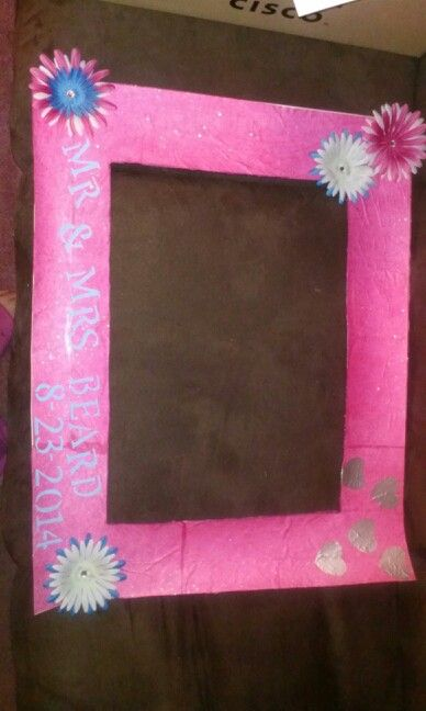Pin By Chrystal Caton On My Own Creations Wedding Picture Frames Paper Glue Homemade Wedding