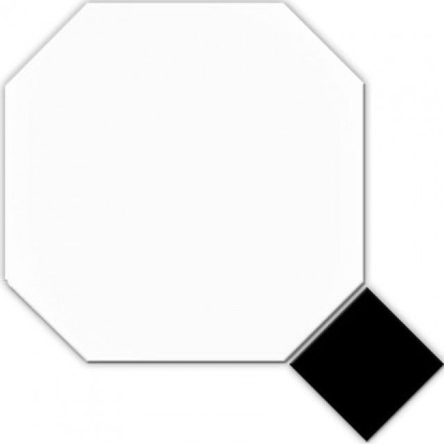 Classic Octagonal White 316x316 Amp Black Taco Floor Tile