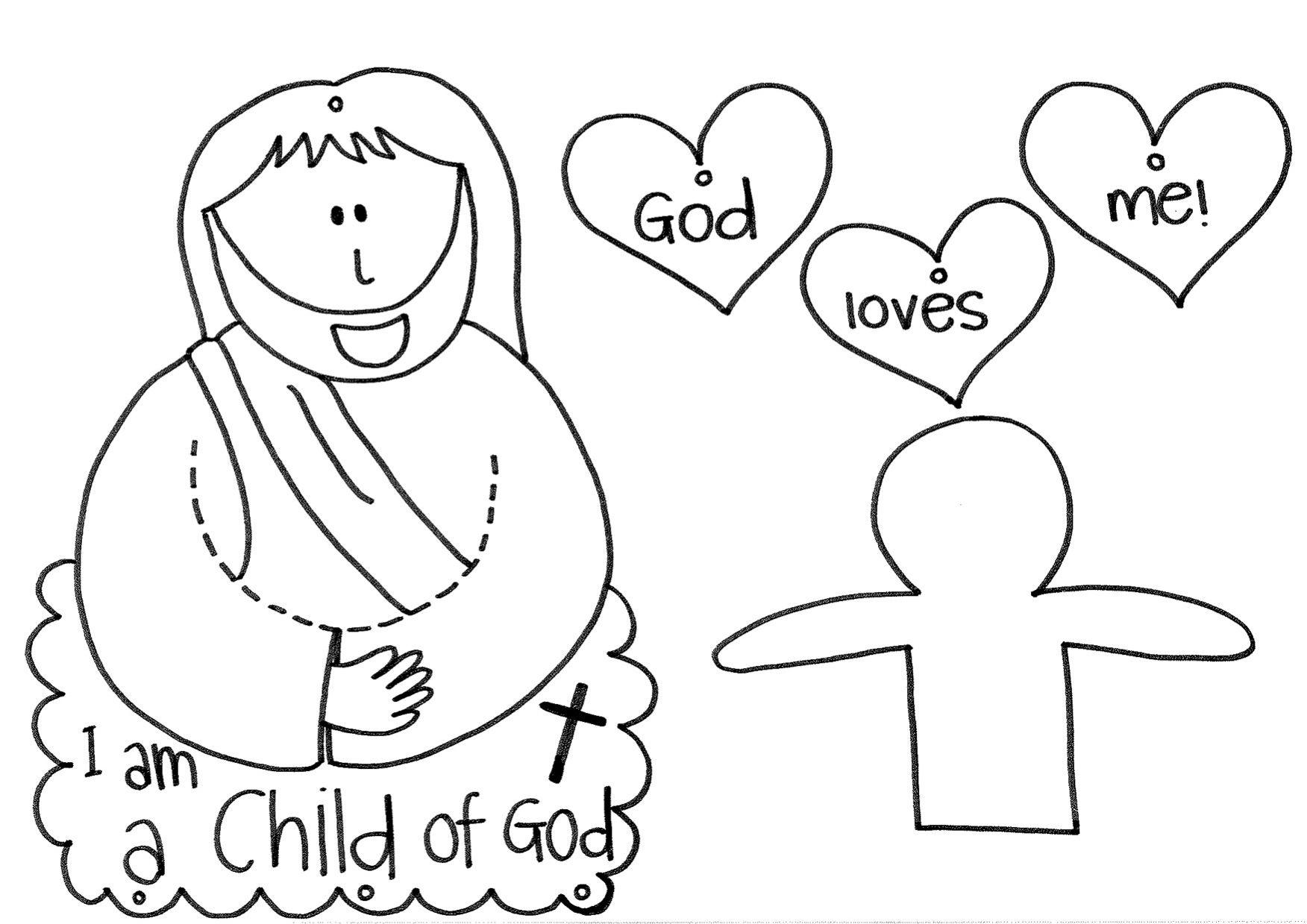 i am a child of God! | Sunday school crafts, School crafts ...