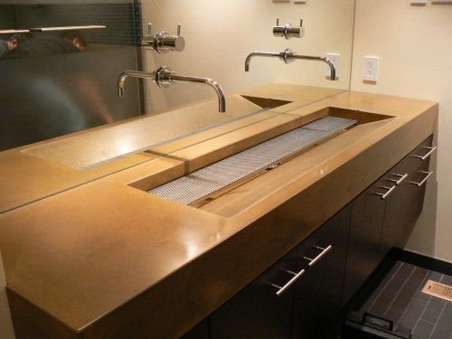 Fantastic Master Bathroom Single Trough Sink With Double Fixtures Download Free Architecture Designs Scobabritishbridgeorg