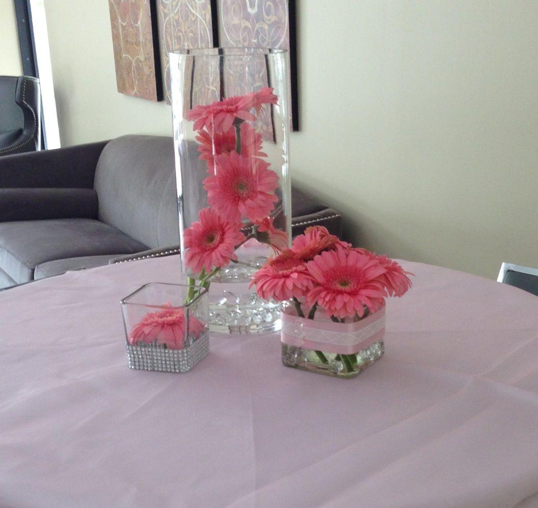 Gerbera daisy centerpieces my creation wedding birthdays bridal gerbera daisy centerpieces reviewsmspy