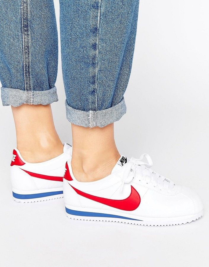 the latest b485d 9a1a1 Nike Classic Cortez Trainers In Retro Leather
