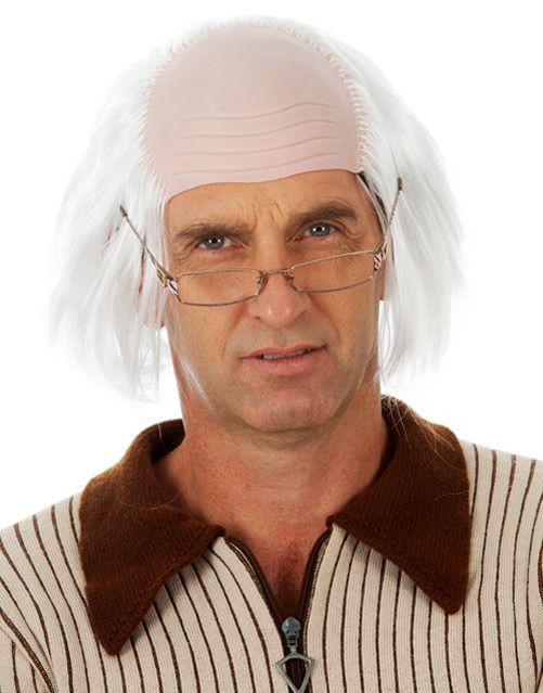 Mens Blonde Game Show Host Wig /& Tash Keith Lemon Comedy Funny Fancy Dress Kit