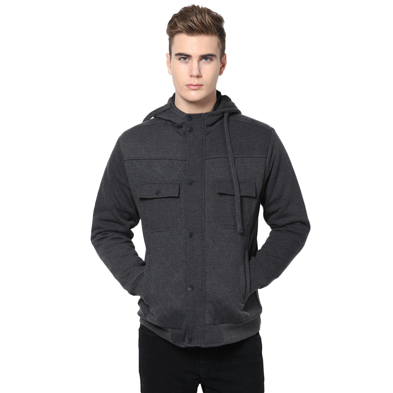 Hoodies Men Black Hooded Sweatshirt Fashion [ 1500 x 1500 Pixel ]