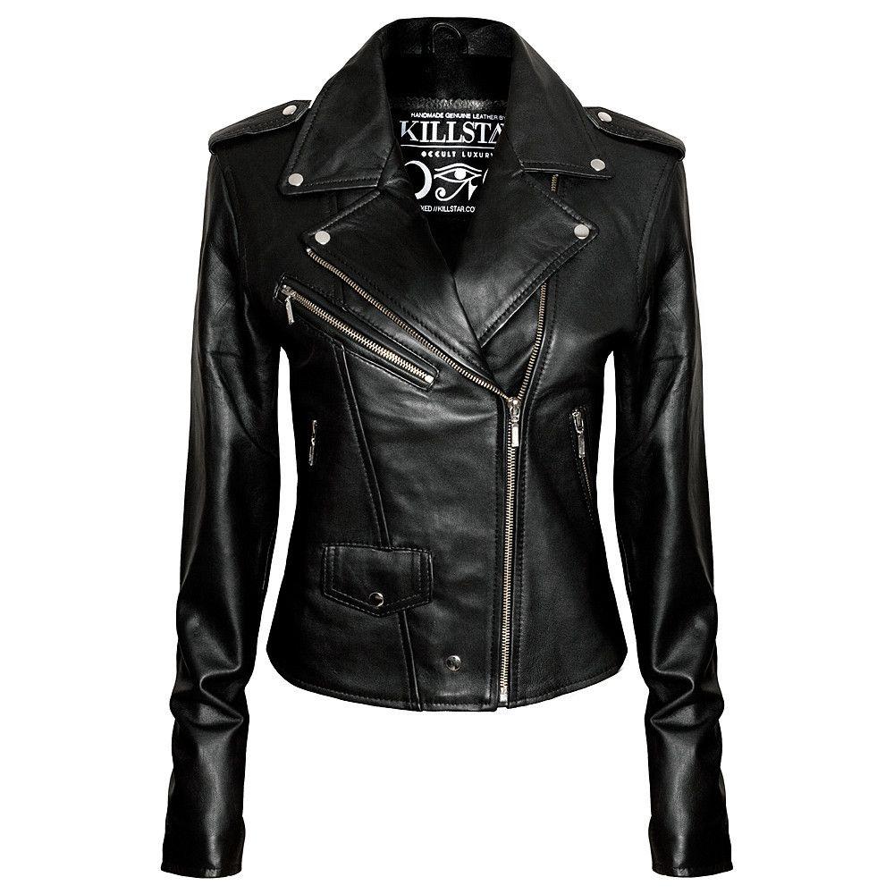 Leather Jacket Vegan Leather Jacket Vegan Leather Jacket Fitted Biker Jacket