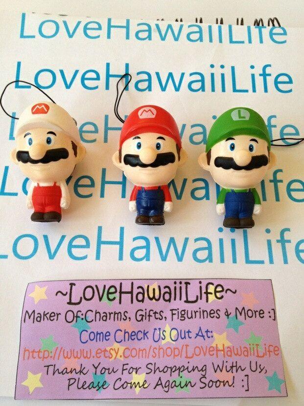 Kawaii Mario/Luigi Squishy 1 pc by LoveHawaiiLife on Etsy