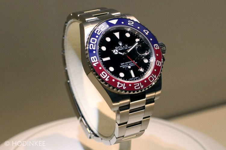 Your First Look At The New Rolex GMT-Master II In White Gold With Pepsi Cerachrom Bezel - HODINKEE