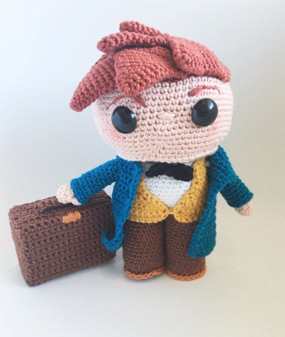 Newt scamander pdf crochet pattern by Sweetypiedesign on Etsy ...