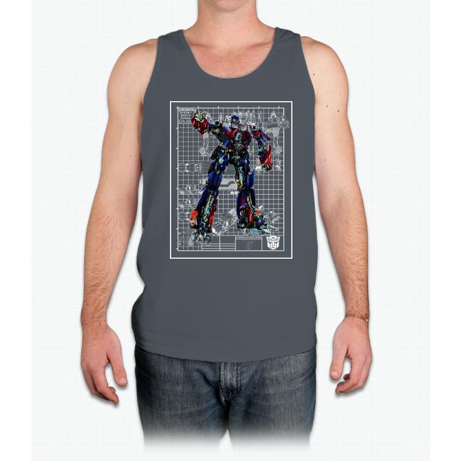 Optimus prime movie blueprint bee movie mens tank top bee movie optimus prime movie blueprint bee movie mens tank top malvernweather Gallery