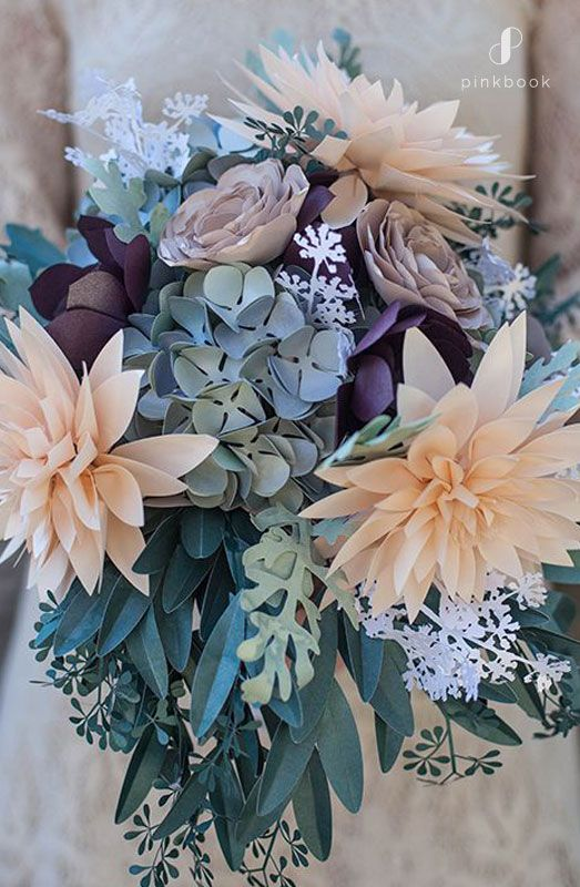 11 Unique Wedding Bouquet Ideas for Brides Who Want to be Different #paperflowerswedding