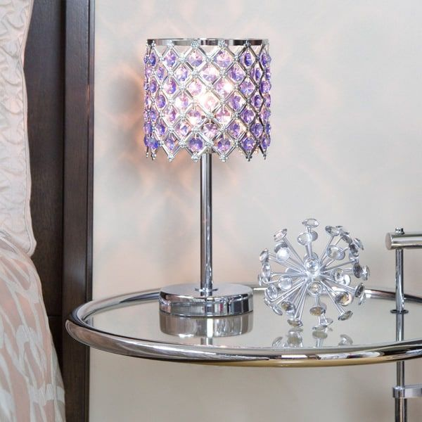 13 25 Inch Crystal Glam Accent Lamp