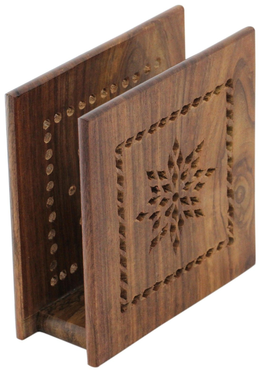 Timeless Creations Handmade 4 7 Wooden Napkin Holder Stand Decorated With Jaali Work Dining Kitchen Wood Napkin Holder Napkin Holder Diy Napkin Holder