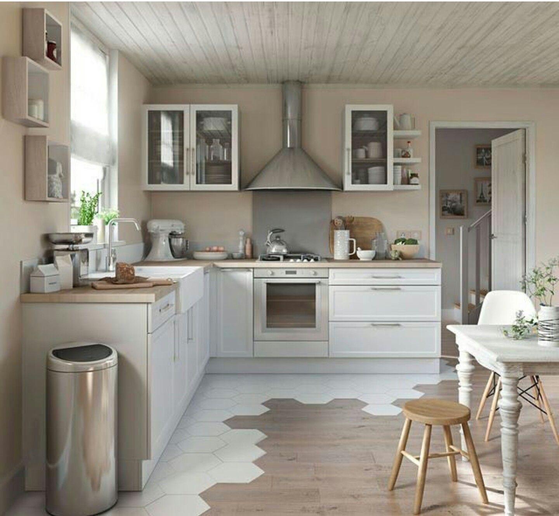 Esszimmer mit küche white u natural wood kitchen  wohnen  pinterest  haus haus
