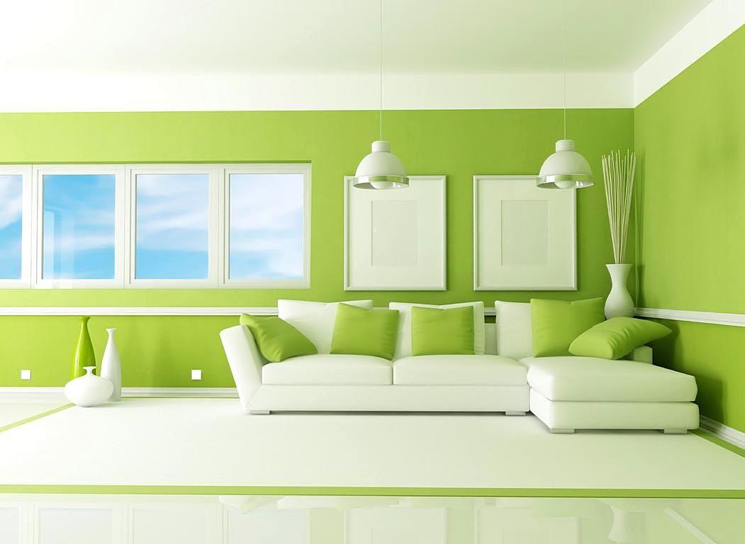 Warna cat dinding ruang tamu yang bagus hijau ruang for Kitchen set bagus