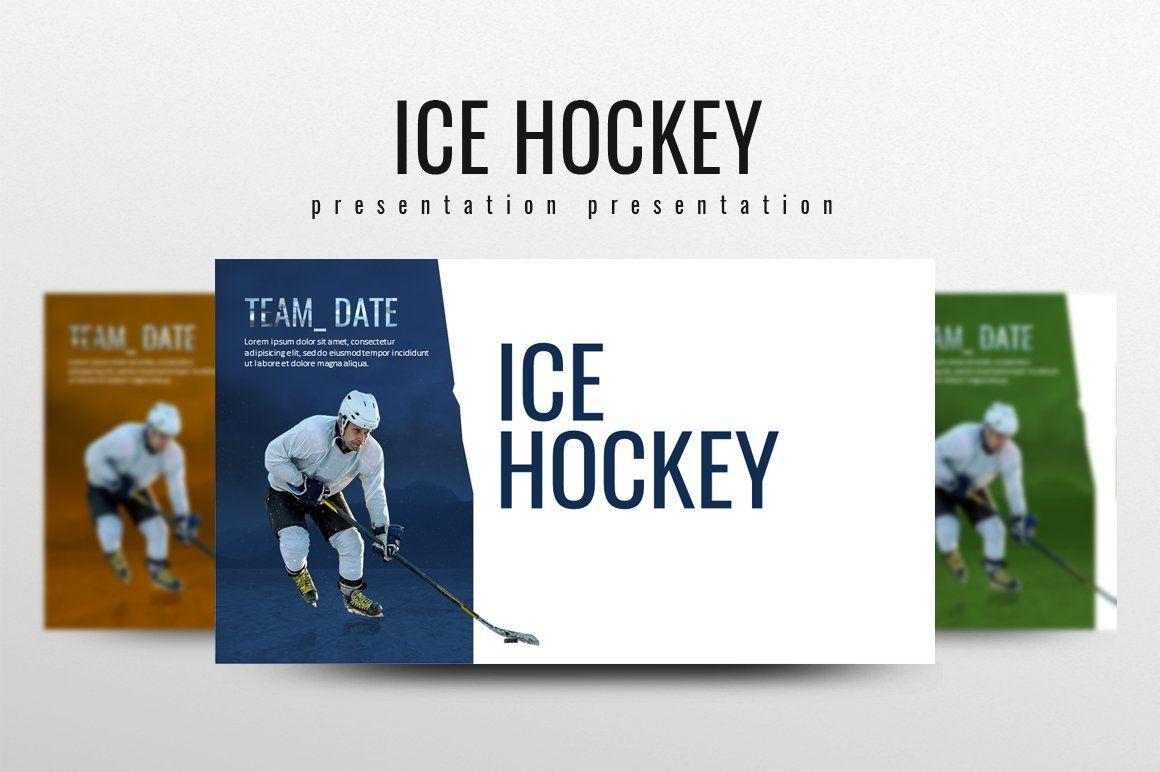 Ice Hockey Types Of Infographics Presentation Design Template Presentation Templates