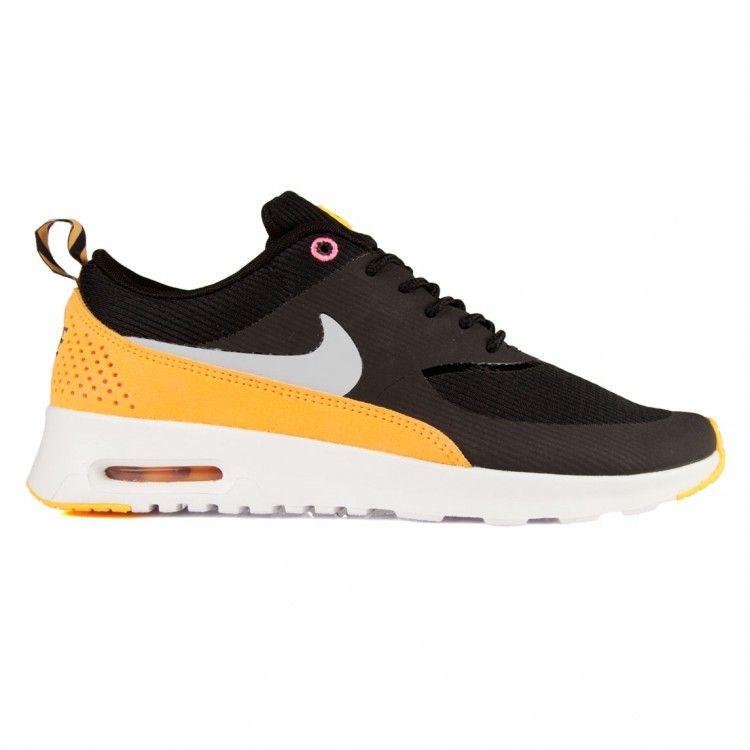 nike air max thea yellow and black