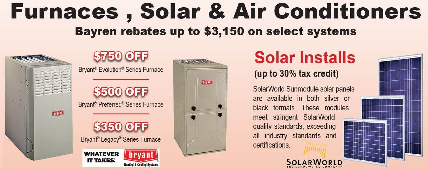 Solar And Furnace Specials Solano Vacaville Fairfield Suisun