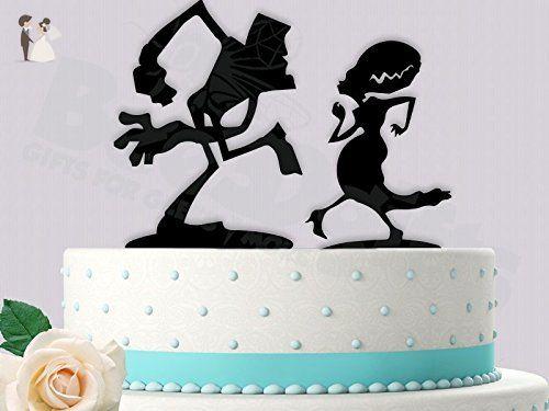Funny dancing frankenstein and bride wedding cake topper venue and funny dancing frankenstein and bride wedding cake topper venue and reception decor amazon junglespirit Choice Image