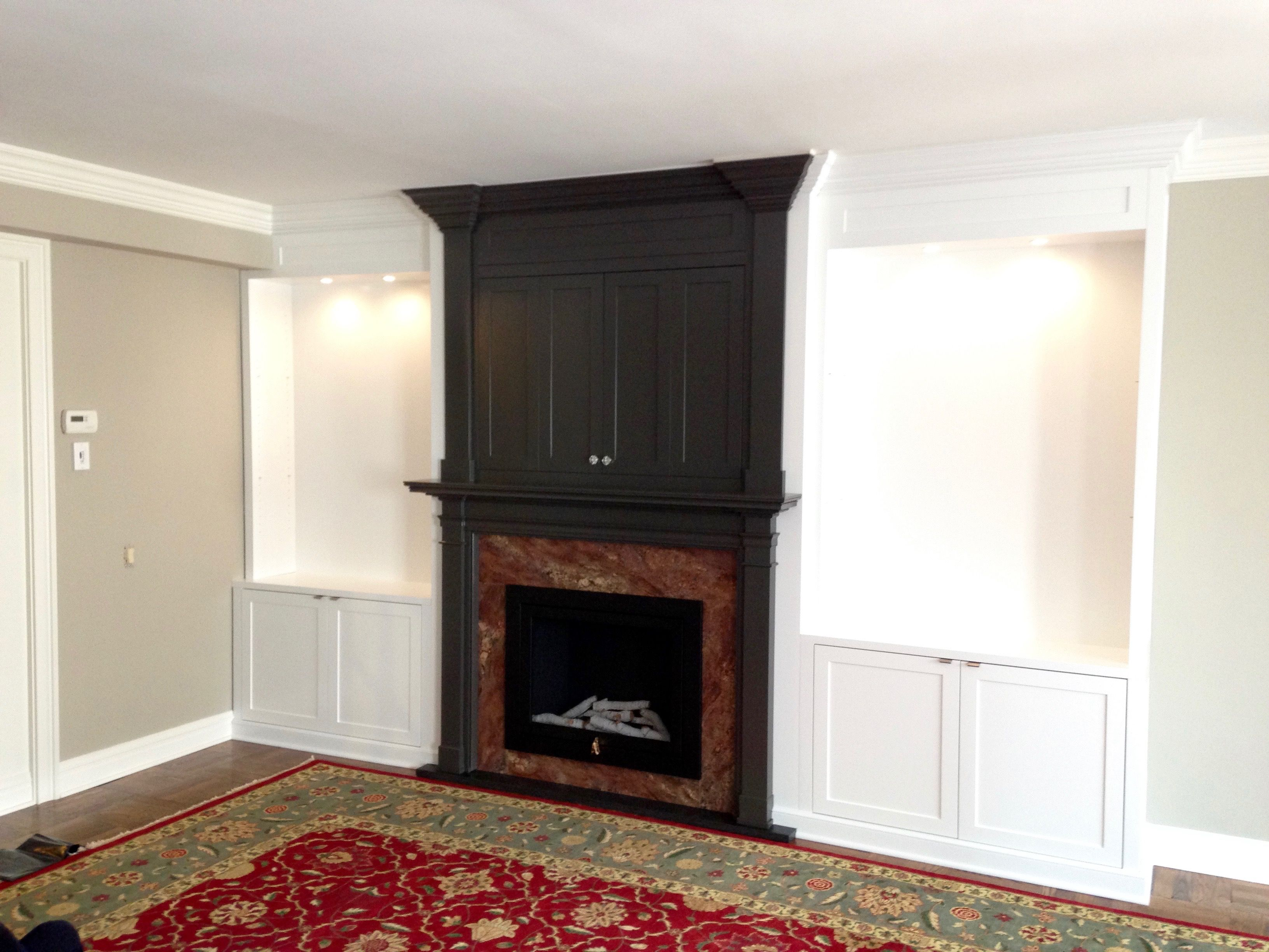 Fireplace #cabinetmakernyc #madeinbrooklyn #woodworking # ...