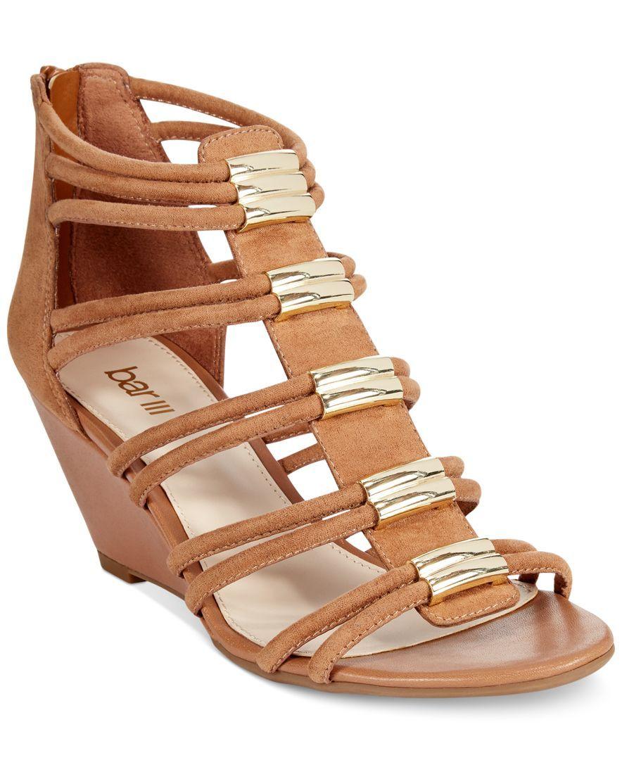 Bar Iii Krystal Mid-Wedge Sandals