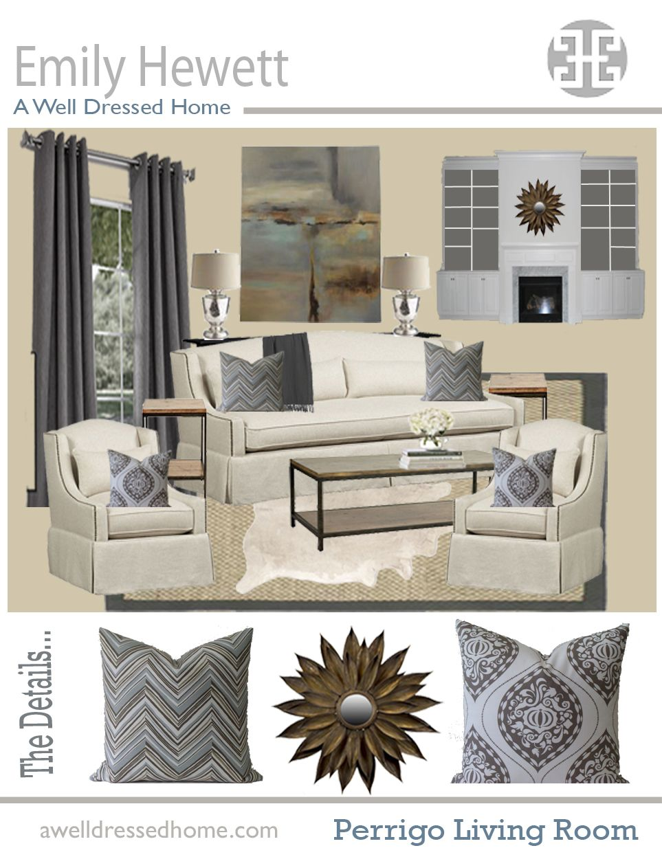 Online Room Decorator: Living Room Online Design Board By Emily Hewett Of A Well