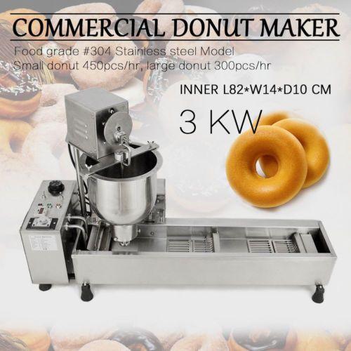 Commercial Automatic Donut Maker Making Machine Wide Oil Tank 3 Sets Free Mold Donut Maker Mini Donuts Maker Donut Shop