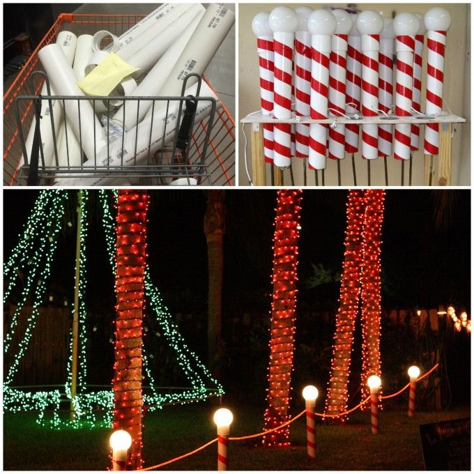 How to make north pole lights using pvc pipes over 60 of