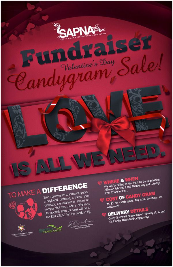 Candy Gram Fundraiser Poster on Behance Fundraising Pinterest - fundraising flyer