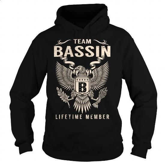 Team BASSIN Lifetime Member - Last Name, Surname T-Shirt - #appreciation gift #quotes funny