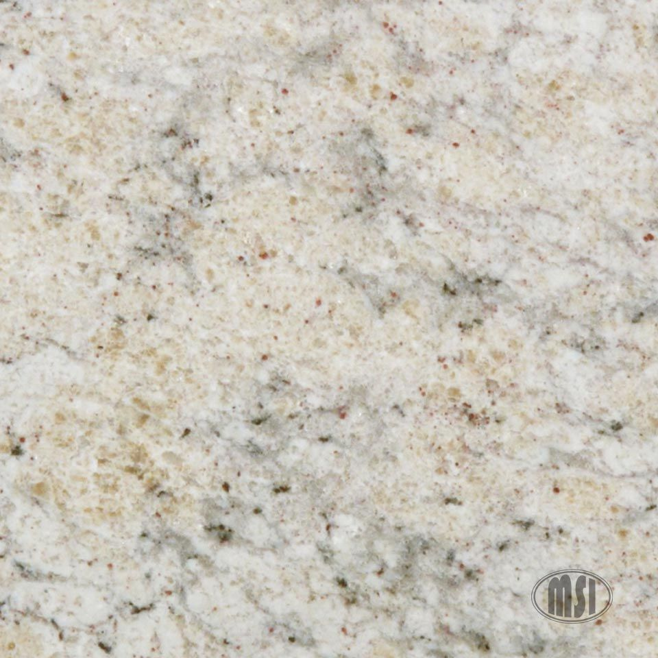 Bianco-Romano granite looks good with white cabinets or stained wood ...