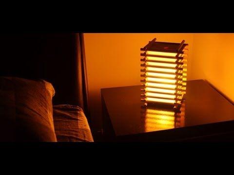 Diy Luminaria Em Espiral De Palitos De Picole Spiral Lamp Of