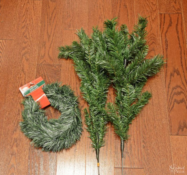 Faux Christmas Tree Repurposed Three Ways DiY outdoor Christmas