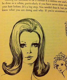 1960's hair illustrations