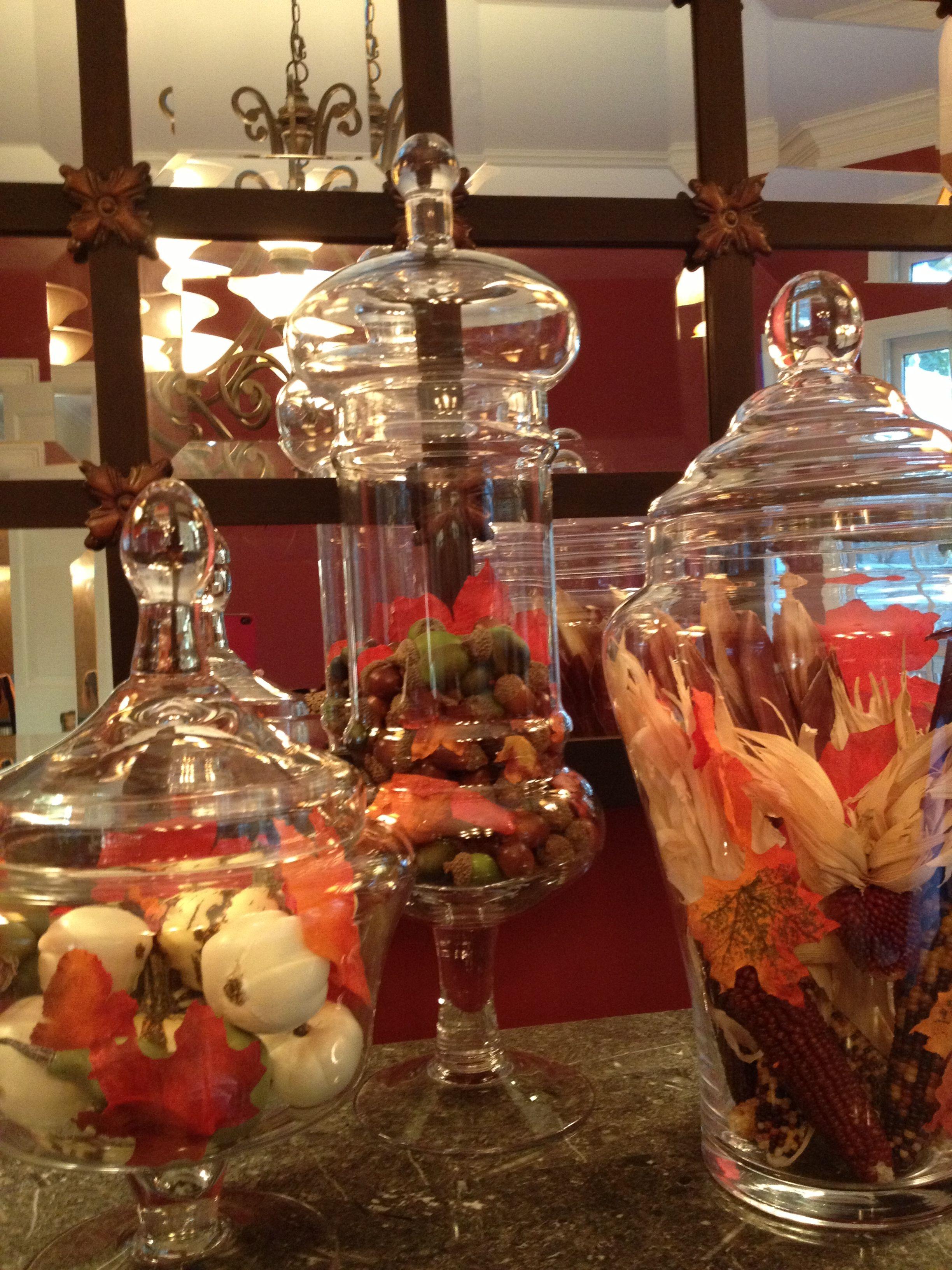 Fall Apothecary Jars Fall Apothecary Jars Apothecary Jars Decor Harvest Decorations