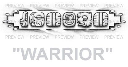 warrior mayan glyphs tattoo design c aztec tattoos aztec mayan inca tattoo designs instant. Black Bedroom Furniture Sets. Home Design Ideas
