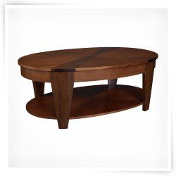Hammary Oasis Oval Lift-Top Coffee Table