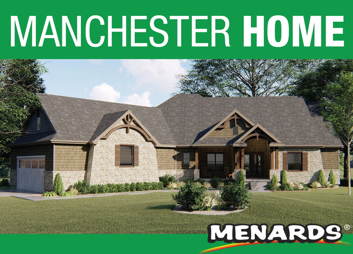 Classic Craftsman Styling And An Angled Footprint Contribute To This 1 Story House Plan S Outstanding Curb Appeal W Manchester Home House Plans Building Plans